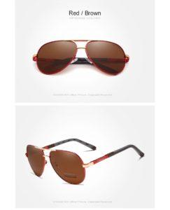 Aluminum Polarized Sunglasses For Men-Women - red-brown