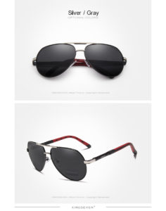 Aluminum Polarized Sunglasses For Men-Women - silver-gray