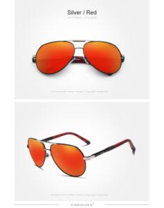 Aluminum Polarized Sunglasses For Men-Women - silver-red