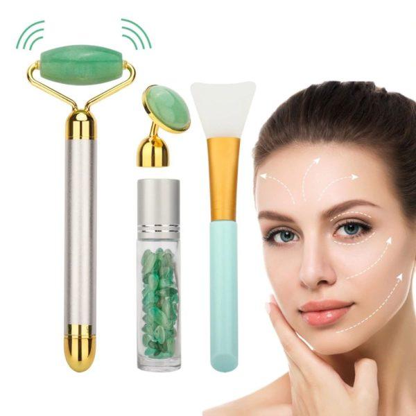 Electric Jade Face Massage Kit - 1