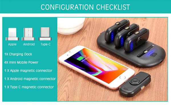 Portable Magnetic Power Bank Charger Kit - 1