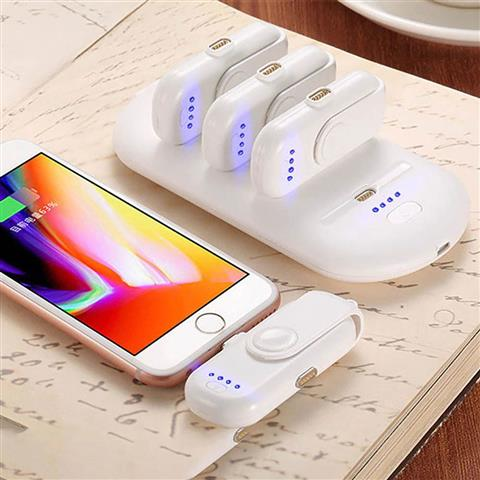 Portable Magnetic Power Bank Charger Kit - White Kit