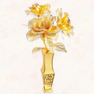 3D Metal Puzzle Kits - Golden Rose Flowers
