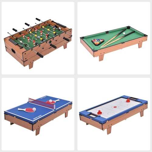 4 In 1 Multi Game Hockey Tennis Football Pool Table 5