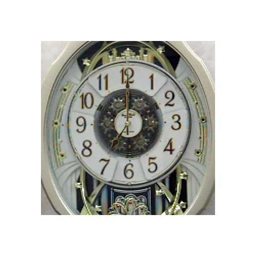 Moving Face Pendulum Wall Clock - Plays Melodies Every Hour 2