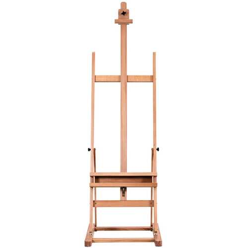 Adjustable Wood H-Frame Painting Floor Easel with Tray 6