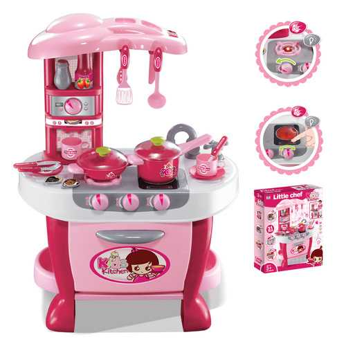 Deluxe Kitchen Appliance Cooking Play Set 3