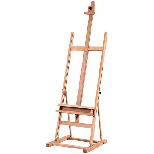 Adjustable Wood H-Frame Painting Floor Easel with Tray 5