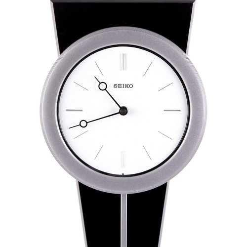 Contemporary Wall Clock with Functional Pendulum Design 1