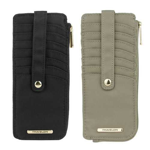 Anti-Theft Tailored Slim Zip Wallets