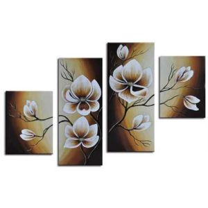White Bloosom Wall Decor Oil Paintings