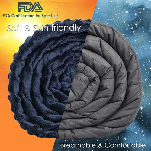 Weighted Blanket with Removable Soft Crystal Cover - 15lbs 2