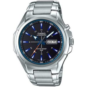 Casio Mens Super Illuminator Quartz Metal and Stainless Steel Casual Watch