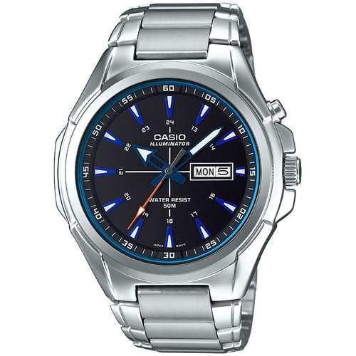 Casio Mens Super Illuminator Quartz Metal and Stainless Steel Casual Watch