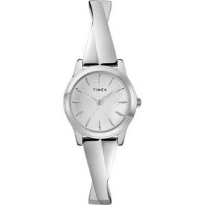Timex Women's Silver-Tone Stainless Steel Expansion Band Bangle Watch