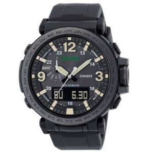 Casio Mens Pro Trek Quartz Resin and Silicone Casual Watch