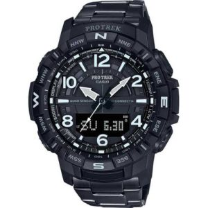 Casio Men's Pro Trek Black Ion Plated Titanium Watch
