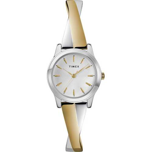 Timex Women's Two-Tone Stainless Steel Expansion Band Bangle Watch