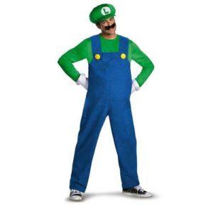 Super Mario Luigi Deluxe Mens Adult Costume