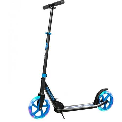 Portable Folding Sports Kick Scooter - Blue 2