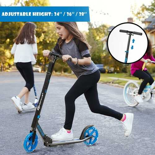 Portable Folding Sports Kick Scooter - Blue 3