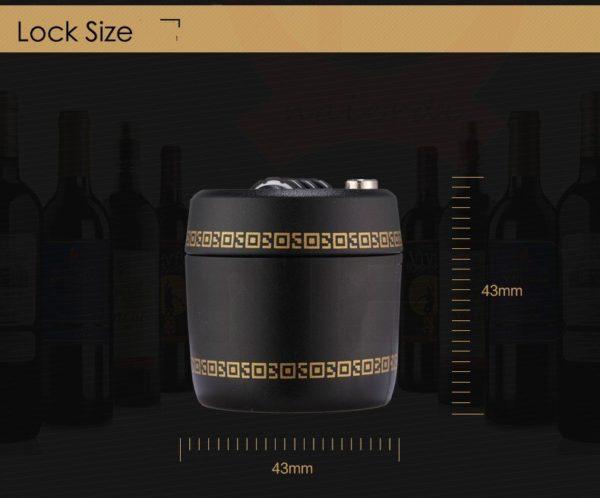 Wine Bottle Password Combination Lock - size