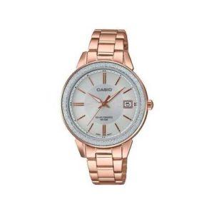Casio Women's Rose Gold-Tone Stainless Steel Bracelet Watch