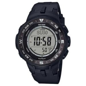 Casio Mens Pro Trek Black Quartz Resin Watch
