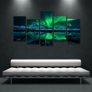 Northern Lights 5 Piece Canvas