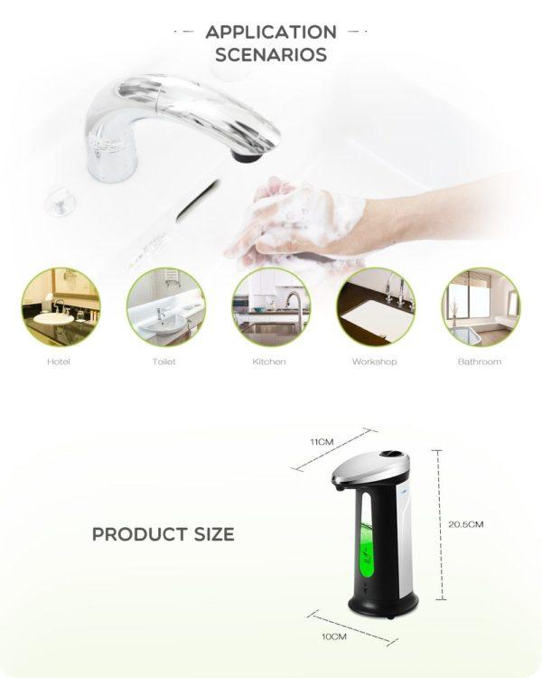 400Ml Automatic Liquid Soap Dispenser 3