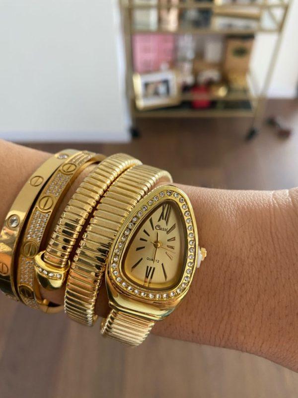 Womens Snake Bracelet Watch 1