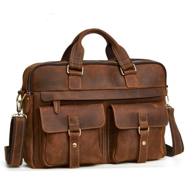 Genuine Cowhide Business Bag For Men 2