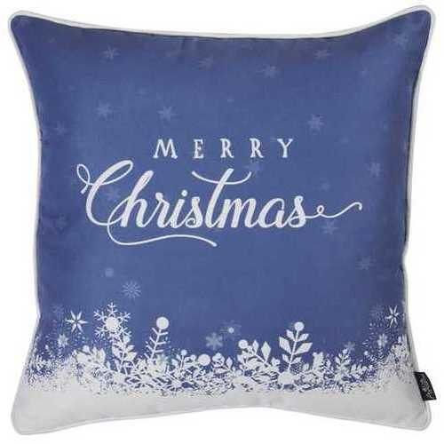 Christmas Snow View Printed Decorative Throw Pillow Cover 2