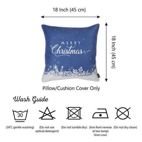Christmas Snow View Printed Decorative Throw Pillow Cover 4
