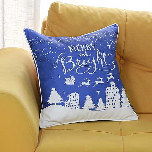 Christmas Snow Printed Decorative Throw Pillow Cover 1