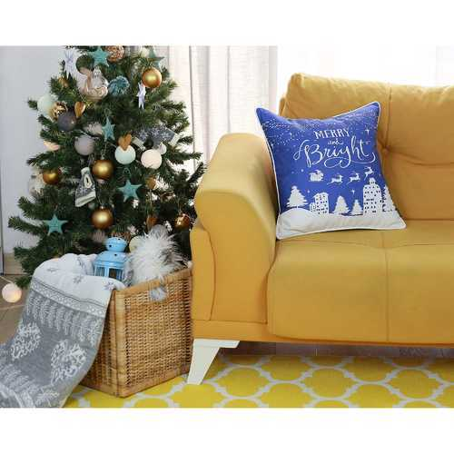 Christmas Snow Printed Decorative Throw Pillow Cover 2