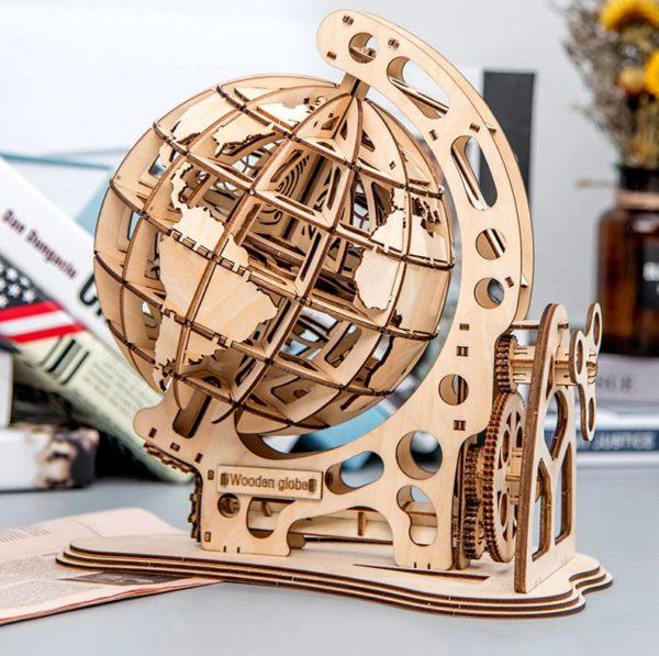 3D Wooden Globe - 1