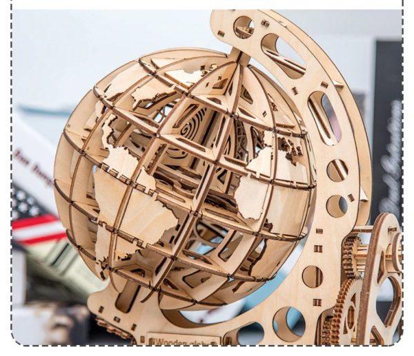 3D Wooden Globe - 3