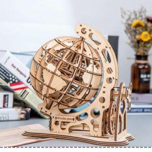 3D Wooden Globe - 4
