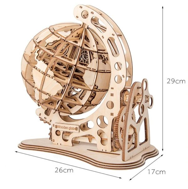 3D Wooden Globe - 6