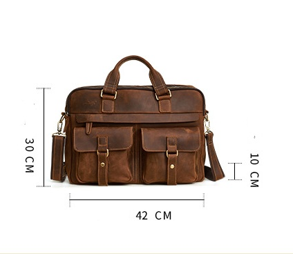 Genuine Cowhide Business Bag For Men 4