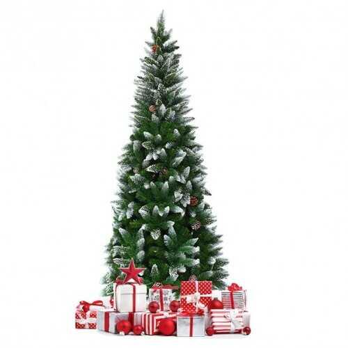 Artificial Pencil Christmas Tree with Pine Cones