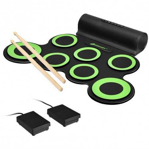 Set 7 Kit Electronic Roll Up Pads MIDI Drum -Green 3