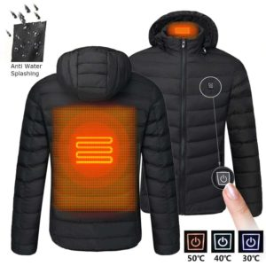Men's Hooded USB Heated Jackets - 10