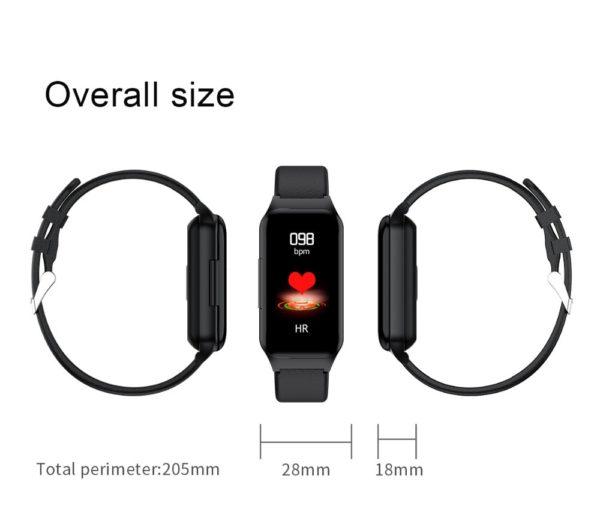 Smart Watch with Bluetooth Earphones