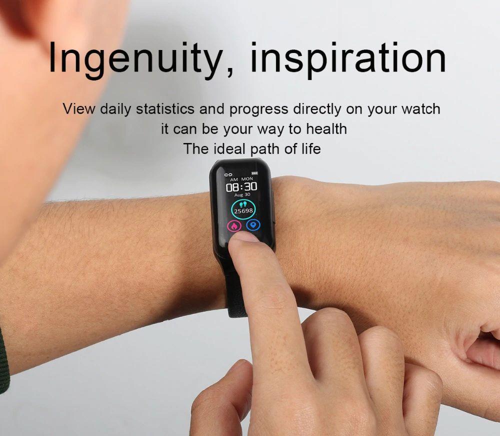 Fitness Smart Watch with Bluetooth Earphones - 12
