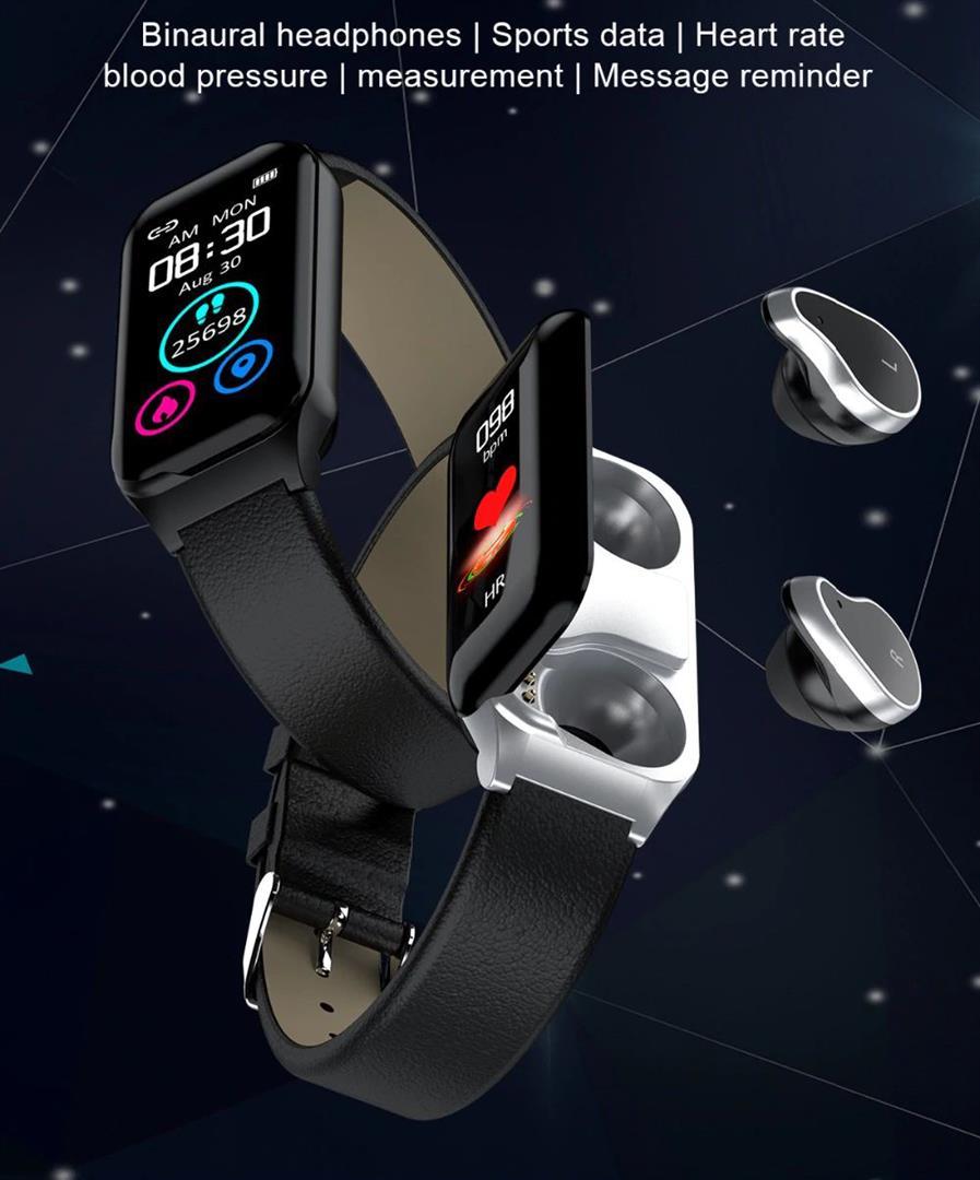 Fitness Smart Watch with Bluetooth Earphones - 2