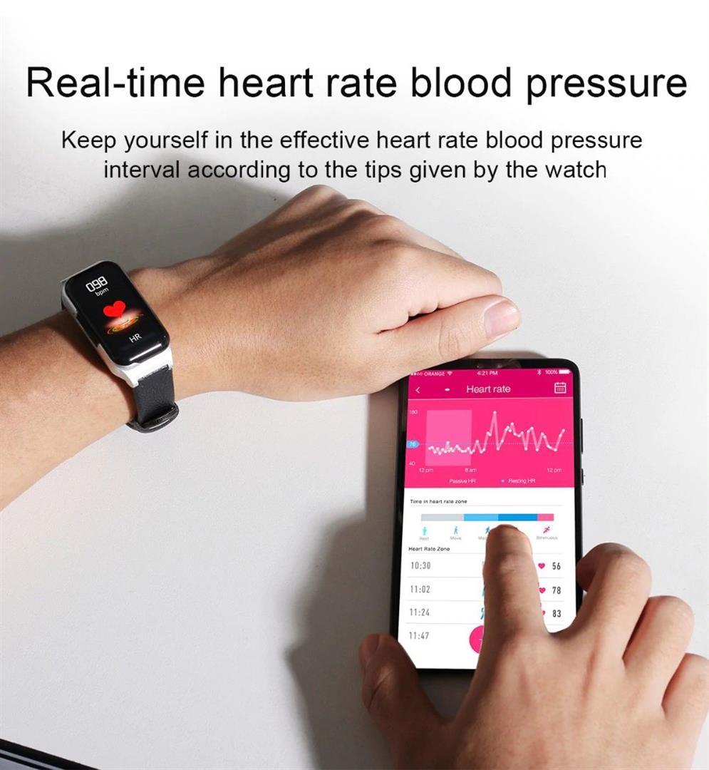 Fitness Smart Watch with Bluetooth Earphones - 8