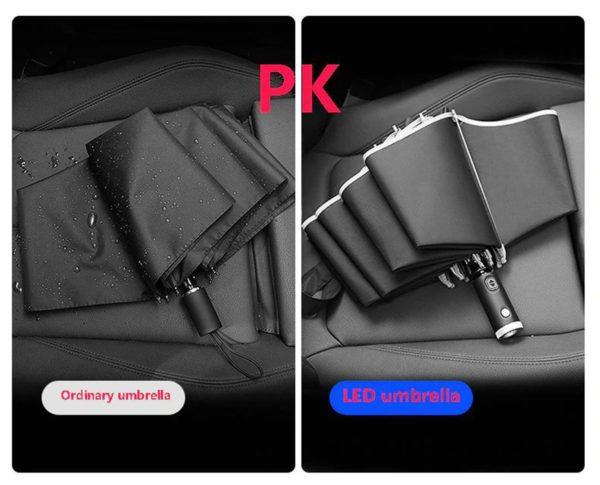 Inverse LED Umbrella - Comparison