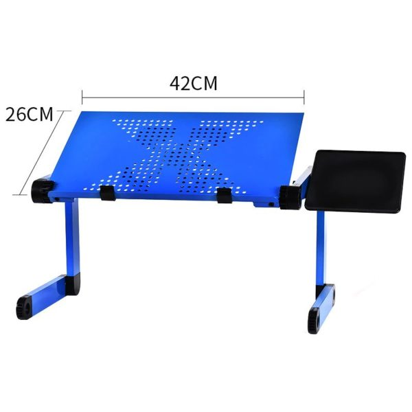 Foldable Ergonomic Laptop Stand With Cooling Fan And Mousepad - 1